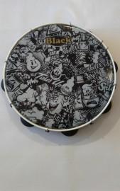 Pandeiro Profissional Black Tin 11'' GHOSTS