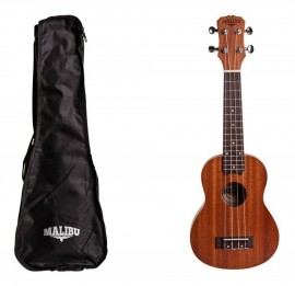 Ukulele soprano eletrico sapele Malibu 21  + capa