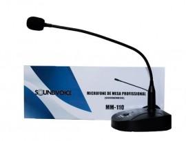 Microfone De Mesa Soundvoice Mm110