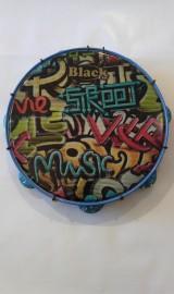 Pandeiro Profissional Black Tin 11'' Street
