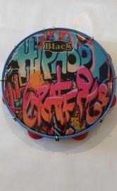 Pandeiro Profissional Black Tin 11'' HipHop